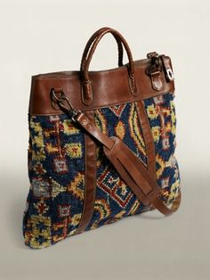 RRL Rug Tote - a modern carpet bag!