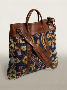 RRL Rug Tote - a modern carpet bag!