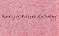 🌸 🌸 Quadro Crochê-de-Rosa Filé Clássica -  /   🌸 🌸 Vintage Crochet Pink Filet Box -