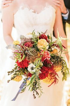 Autumn Bridal Bouquet | see it all on www.onefabday.com