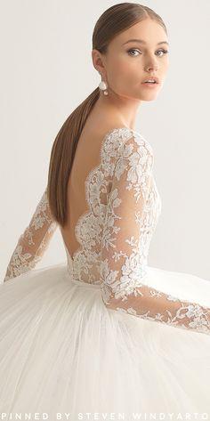 Rosa Clará Couture Fall 2018 Wedding Dresses Collection - Niher Dress #fall2018 #fw18 #rosaclará #rosaclara #weddingdress