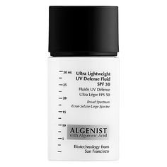 """""""Ultra Lightweight UV Defense Fluid SPF 50 - Algenist   Sephora"""" Looks like reviewers with combination skin say this is drying. However, oily reviewers swear by it."""