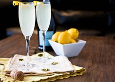 A pretty little cocktail made with gin, St. Germain, lemon juice, and topped off with bubbly prosecco.