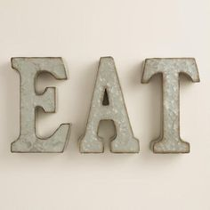 Lovely One Of My Favorite Discoveries At WorldMarket.com: Zinc Metal Eat Sign