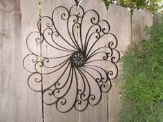 Outdoor Wrought Iron Decor