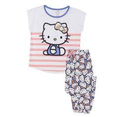 c0b496beee Girls  Hello Kitty Girl s 2 Piece Pajama Sleep Set (Little Girl   Big Girl)