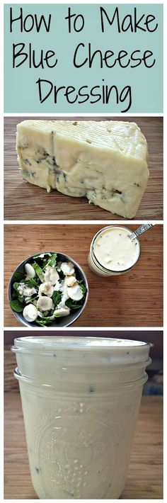 Lighter blue cheese dressing