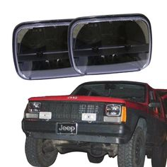117.89$  Watch here - http://alime0.worldwells.pw/go.php?t=32787837924 - a pair 5''x 7'' Inch Square Daymaker led headlight trucklight High Low Beam for jk Wrangler YJ Cherokee XJ Trucks 4X4 Offroad 117.89$