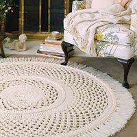 lovely crochet rug