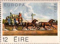 Irish Mail Coach Stamp