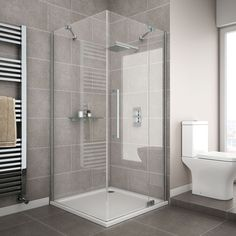 Apollo Frameless Hinged Door Square Enclosure - R/H Opening Large Image Bathroom Remodel Cost, Shower Remodel, Bath Remodel, Bathroom Design Small, Bathroom Interior Design, Modern Bathroom, Family Bathroom, Bathroom Designs, Square Shower Enclosures