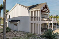 Coastal Plan: 2,917 Square Feet, 3 Bedrooms, 3.5 Bathrooms - 963-00458 Two Story House Plans, Two Story Homes, Best House Plans, Dream House Plans, Floor Plan Drawing, Coastal House Plans, Building A New Home, Amazing Spaces, Build Your Dream Home
