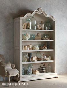 Rousseau Bookcase - Silver Highlights pretty for a bathroom