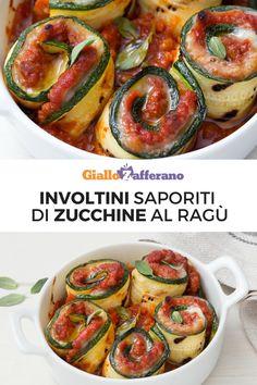 Gli involtini di zucchine al ragù sono un piatto saporito e originale: gustosi rotolini di zucchine grigliate nascondono un goloso ripieno filante. Un tocco rustico per le tue cene estive! #involtini #zucchine #ragù #courgette #zucchini #rolls #giallozafferano [Easy zucchini rolls recipe]