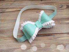 Felt and pom pom headband made to match by lovestoshopforyou