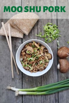 Moo Shu Pork is a flavourful stir-fried dish from northern China. Delicious eaten in wraps with or without rice or in a bowl with your favourite cooked rice!  #mooshupork #chinesefood #stirfry #easydinner #quickmeals #porktenderloin via @Bakersbeans