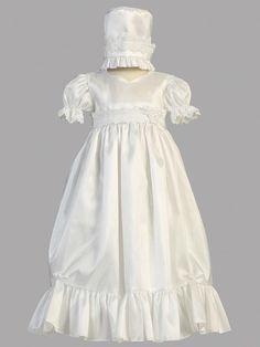 Sweet - Girls Taffeta Christening Dress Farrah