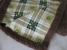 John Deere Baby / Toddler Plaid Blanket by MnStyle on Etsy, $40.00