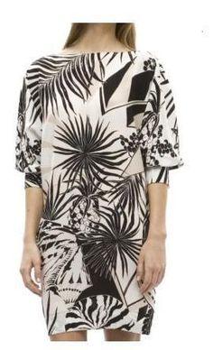 Stella McCartney Шелковые тропических печати платье Профиль Фотография