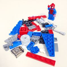 What a mess! Better get a builder to make something out of these... #Lego #Spiderman