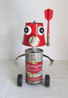 Hey, I found this really awesome Etsy listing at https://www.etsy.com/listing/247588567/sudz-found-object-robot