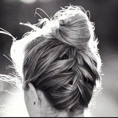 braid+into+bun+updo+for+thin+hair