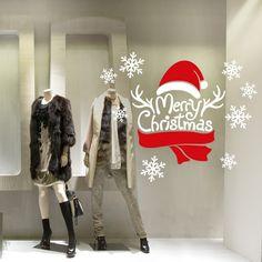 "Vetrofania ""Composizione Merry Christmas""  http://www.adesivimurali.com/natale-vetrinistica/NT0373-composizione-merry-christmas"