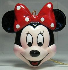 Minnie Mouse face flat ornament
