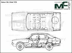 Datsun 140 J Violet '1976 - drawing (ai, cdr, cdw, dwg, dxf, eps, gif, jpg, pdf, pct, psd, svg, tif, bmp)