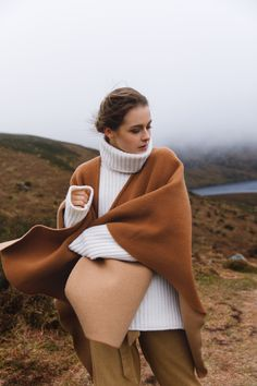 This luxuriously soft combination of wools give a contemporary twist to any outfit. Cosy Irish knitwear and wool wraps from Triona are the perfect choice for any ladies Winter wardrobe. #cape #wool #tweed #irishfashion #wearingirish #cashmerecape #shawl Irish Fashion, Cashmere Cape, Wool Cape, Capes For Women, Fit S, Winter Wardrobe, One Size Fits All, Shawls, Cosy