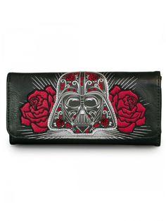 """""""Star Wars Darth Vader Sugar Skull Roses"""" Wallet by Loungefly (Black)"""