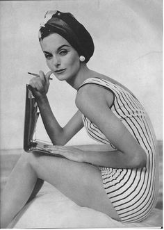 Vogue May 1956 Maillot by Cabana. Anne St. Marie, model