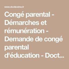 Congé parental - Démarches et rémunération - Demande de congé parental d'éducation - Doctissimo
