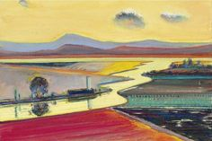 Wayne Thiebaud, River Valley, 1995
