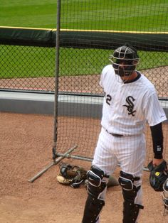 Catcher AJ Pierzynski @ White Sox Home Opener, April 13, 2012. Sox beat Tigers 5-2.