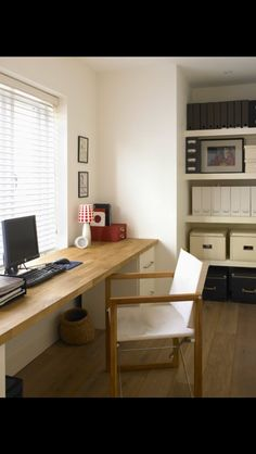 desk set up for office idea (two of those galant corner tables