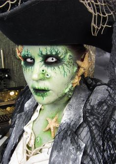 Goldie Starling's Haunting Halloween Makeup