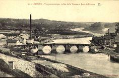 Limoges, vue panoramique, vallée de la Vienne et Pont St-Etienne - Bfm Limoges.