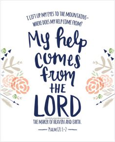 @randyskeete My help comes from the LORD, the Maker of heaven and earth! Psalm 121:1-2 http://www.sdahymnal.net/