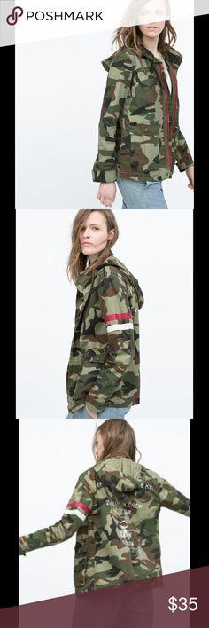 Zara jacket Camouflage parka jacket Size xs Zara Jackets & Coats