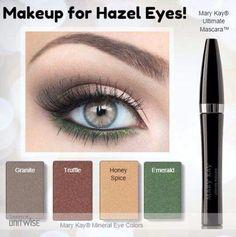 Beautiful eye colors for Hazel Eyes! Shop www.marykay.com/mwhitehead10013