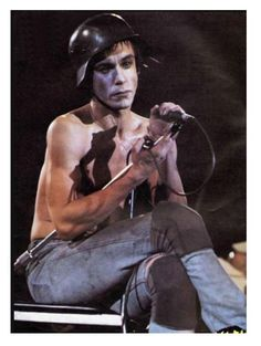 USA Photo of Iggy POP, Iggy Pop at the Waterbury Connetticut wearing a Wermacht helmet Rock N, Punk Rock, Rock And Roll, Iggy And The Stooges, The Cramps, Maid Outfit, Iggy Pop, Thing 1, Skinhead