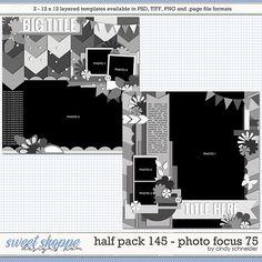 Cindy's Layered Templates - Half Pack 145: Photo Focus 75 by Cindy Schneider