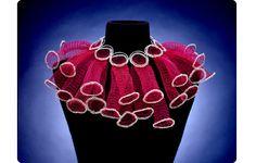 Fiber necklace by Arline Fisch