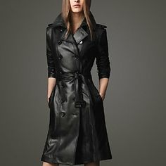 Women's Slim Black Color Trench Coats . Put on your shades and some red n sexy lipsticks you're all set!