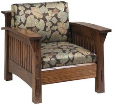 You'll save on every piece of furniture at Amish Outlet Store! We custom make every item, and you can get the Country Mission Chair in Oak with any wood and stain.