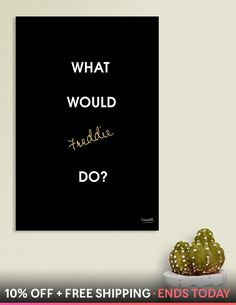 Discover «What Would Freddie Do?», Numbered Edition Canvas Print By  TruerockR