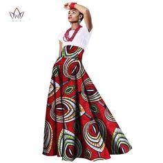 2017 sping african women clothing Long Maxi Dashiki for women Bazin riche robe longue femme Plus Size print cotton skirt African Dresses For Women, African Attire, African Wear, African Women, Agbada Styles, Gown Skirt, African Print Fashion, African Prints, Dashiki