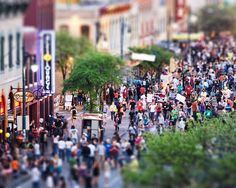 South by Southwest crowd on 6th Street, Austin Texas.