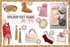 Holiday Gift Guide For Her on Shiny Honey Fashion Blog by Tamara Bellis / Christmas Time